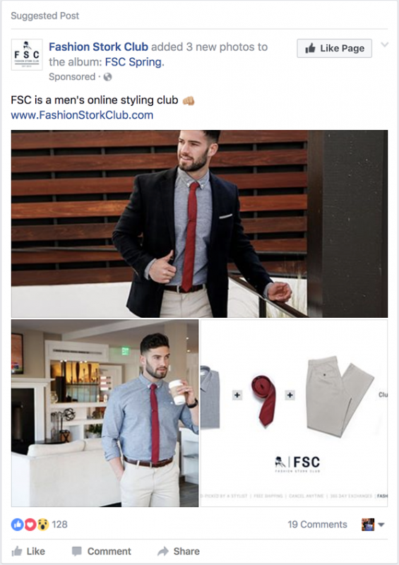 các loại facebook ads