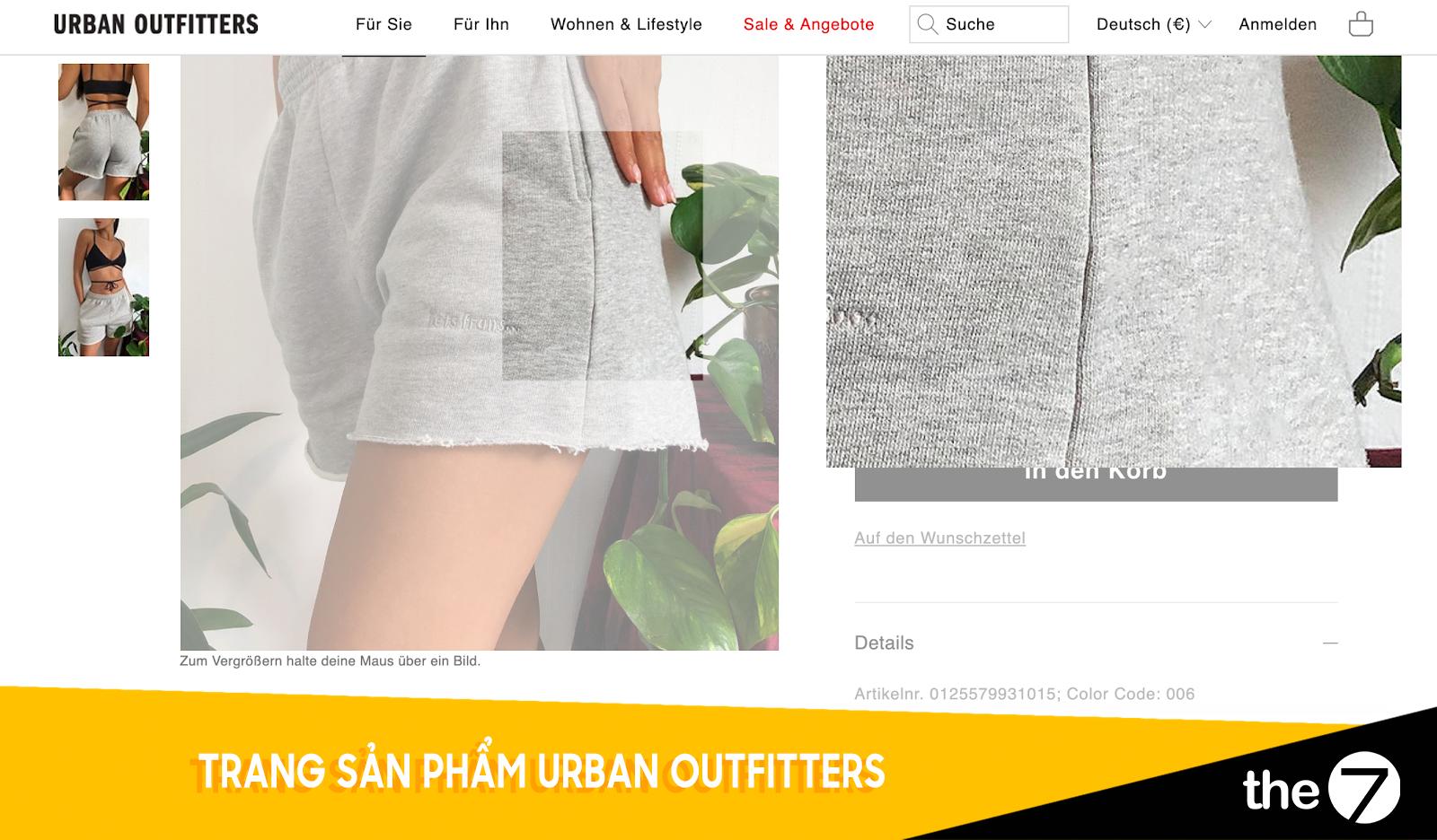 Trang sản phẩm Urban Outfitters