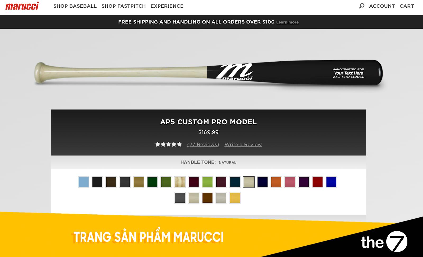 Thiết kế website bán hàng - Trang bán hàng Marucci