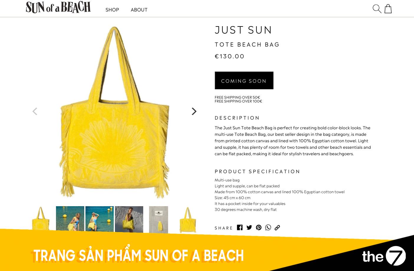 Thiết kế website bán hàng - Trang bán hàng Sun of a beach