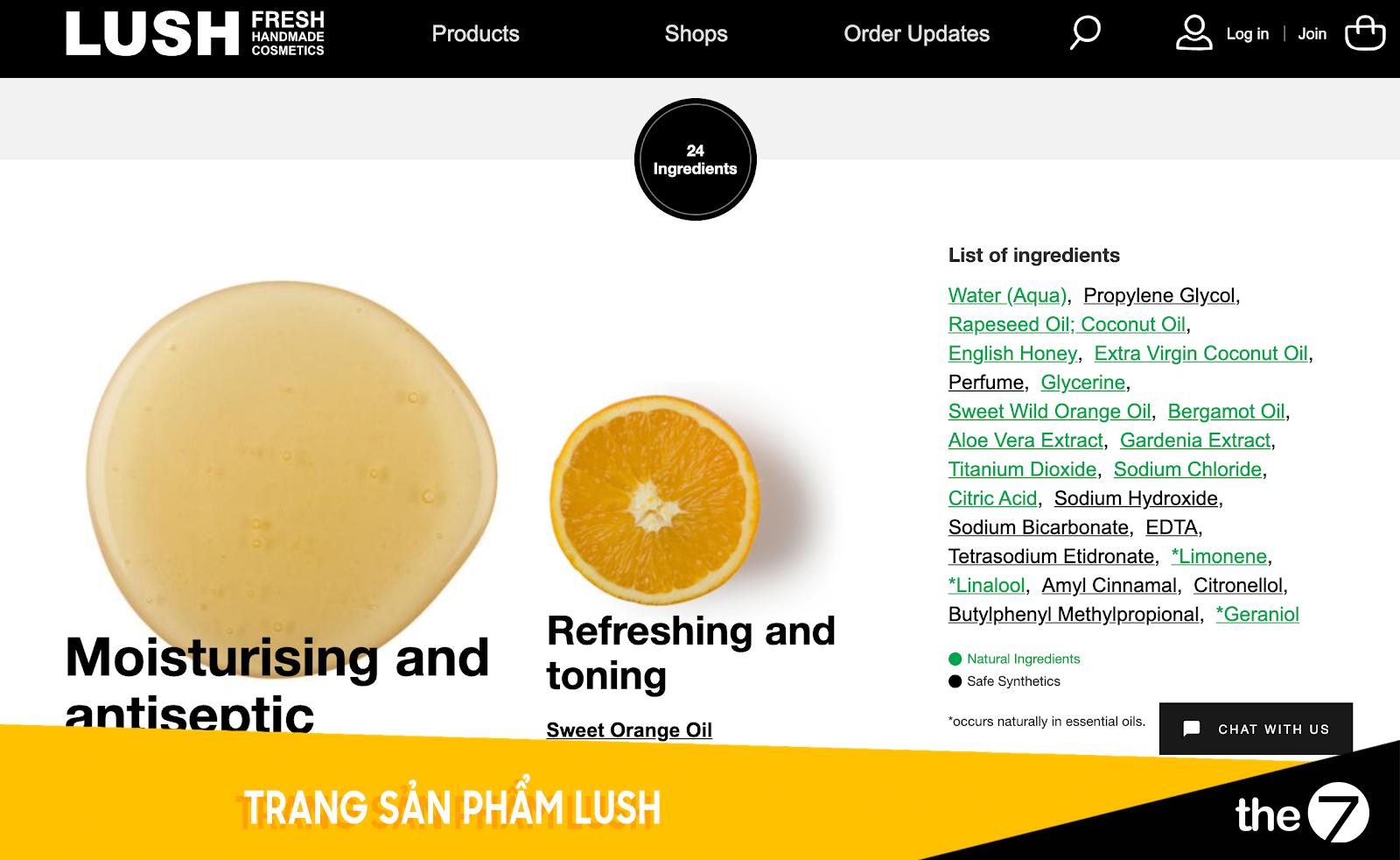 Thiết kế website bán hàng - Trang bán hàng Lush