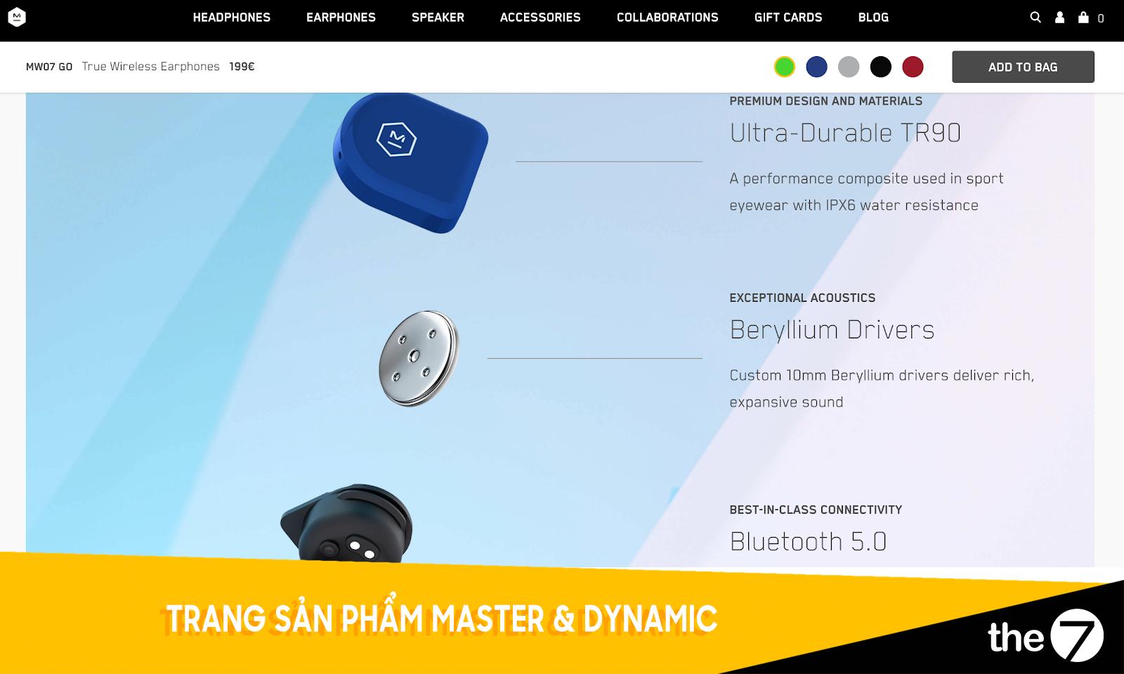 Thiết kế website bán hàng - Trang bán hàng Master & Dynamic