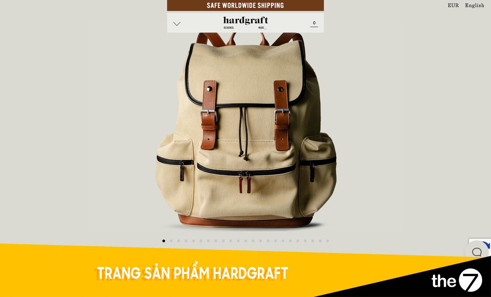 Thiết kế website bán hàng - Trang bán hàng Hardgraft