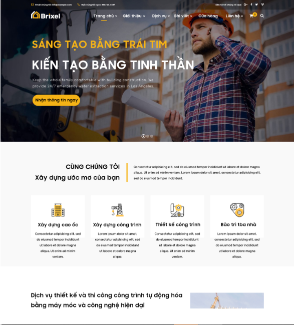 Brixtel - Theme website cho doanh nghiệp