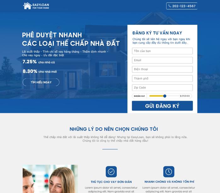 Theme Website EasyLoan
