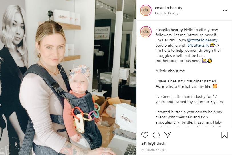 Một bài giới thiệu ấn tượng của doanh nghiệp @costello.beauty trên Instagram